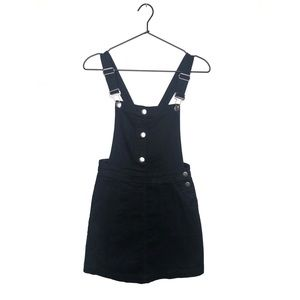 H&M Black Denim Overall Dress